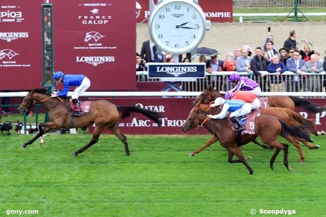 01/10/2017 - Chantilly - Total Prix Marcel Boussac - Critérium des Pouliches : Arrivée